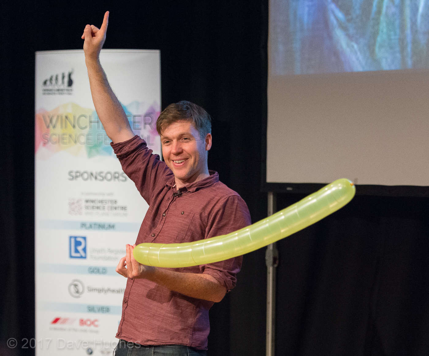 Simon performing Look Up at Winchester Science Festival