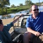 Fording a river in Australia