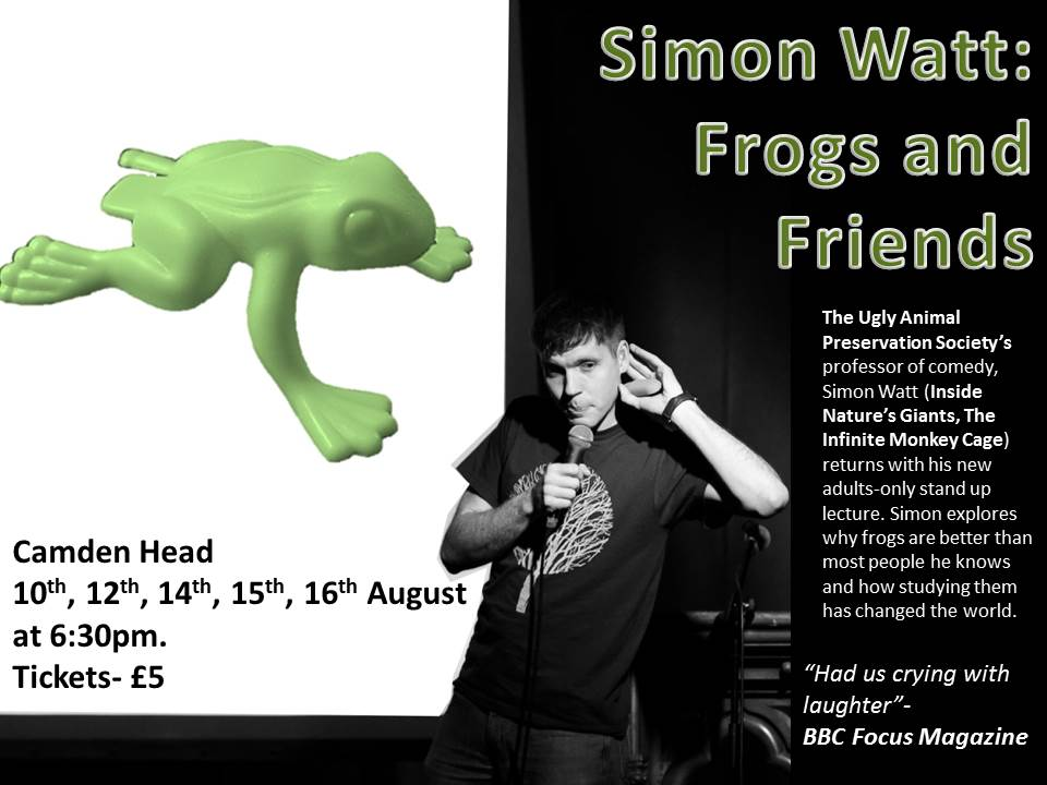 Simon Watt's Frogs and Friends at the Camden Fringe