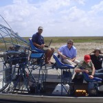 On location in the everglades